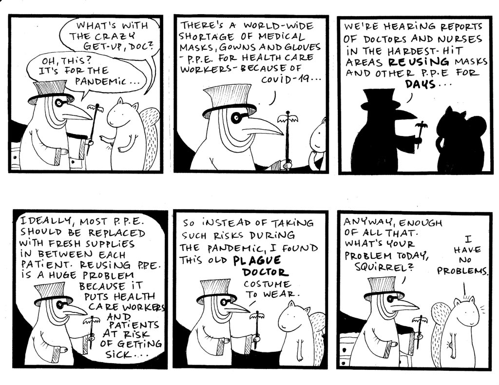 Part 2 of #PlagueDoctor starring Dr. Katz and #Squirrel! diaryofasquirrel.blogspot.com/2020/03/plague… #graphicmedicine #pandemic