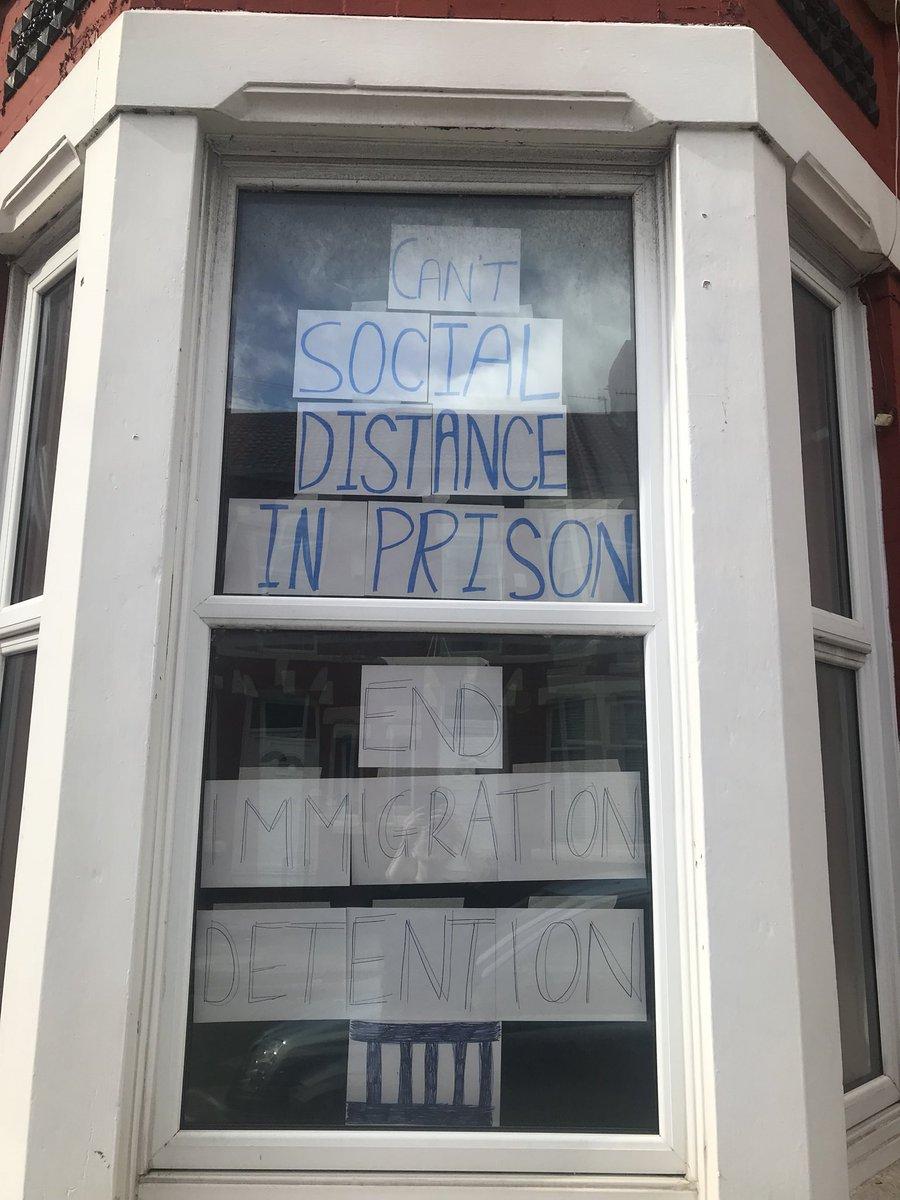 Can't social distance in prison. End Immigration Detention. #DemandsFromAPandemic