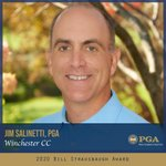 Image for the Tweet beginning: Congratulations to Jim Salinetti, PGA