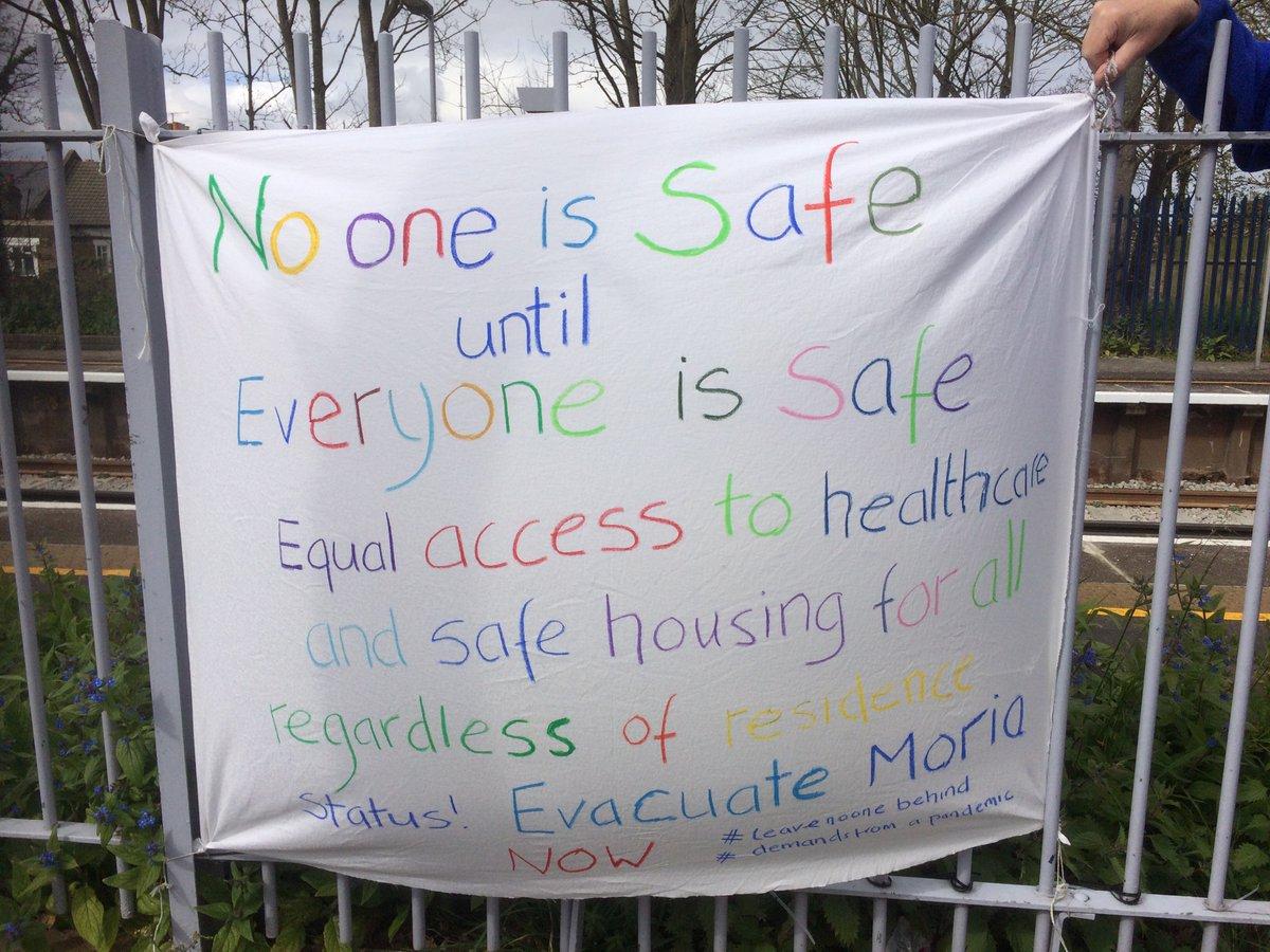 Solidarity from Westcombe Park #leavenoonebehind #demandsfromapandemic
