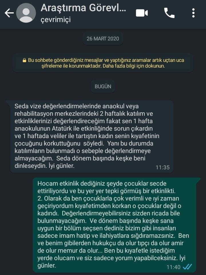 Anaokulu çocukları Mustafa Kemale secde ettirilirken sıkıntı yok! Ama stajyer öğretmenimizin tesettürü çocuklar için korkutucu olabilirmiş! Zihniyetiniz Batsın Sizin❗ Bu Çürümüş Zihniyete karşı @sedakktp kardeşimi dik duruşundan dolayı Takdir Ediyorum 👏