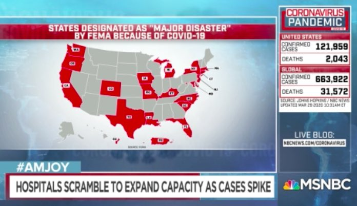 States designated as 'major disaster' by FEMA because of COVID-19 #AMJoy