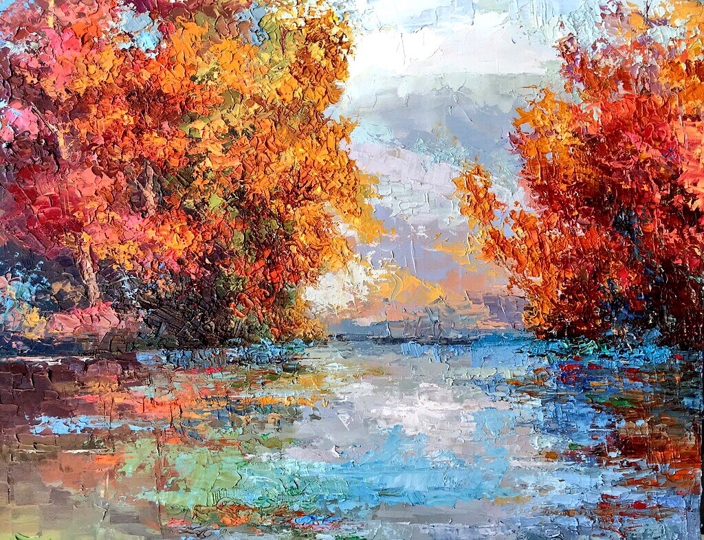 """Dream River""16x20 palette knife oil painting by Peggy Ann Thompson Blackwell Gallery #painter #art #ArtistOnTwitter #gallery #artwork #impressionism #painting #paletteknifepaintingpic.twitter.com/NxX6doU67U"