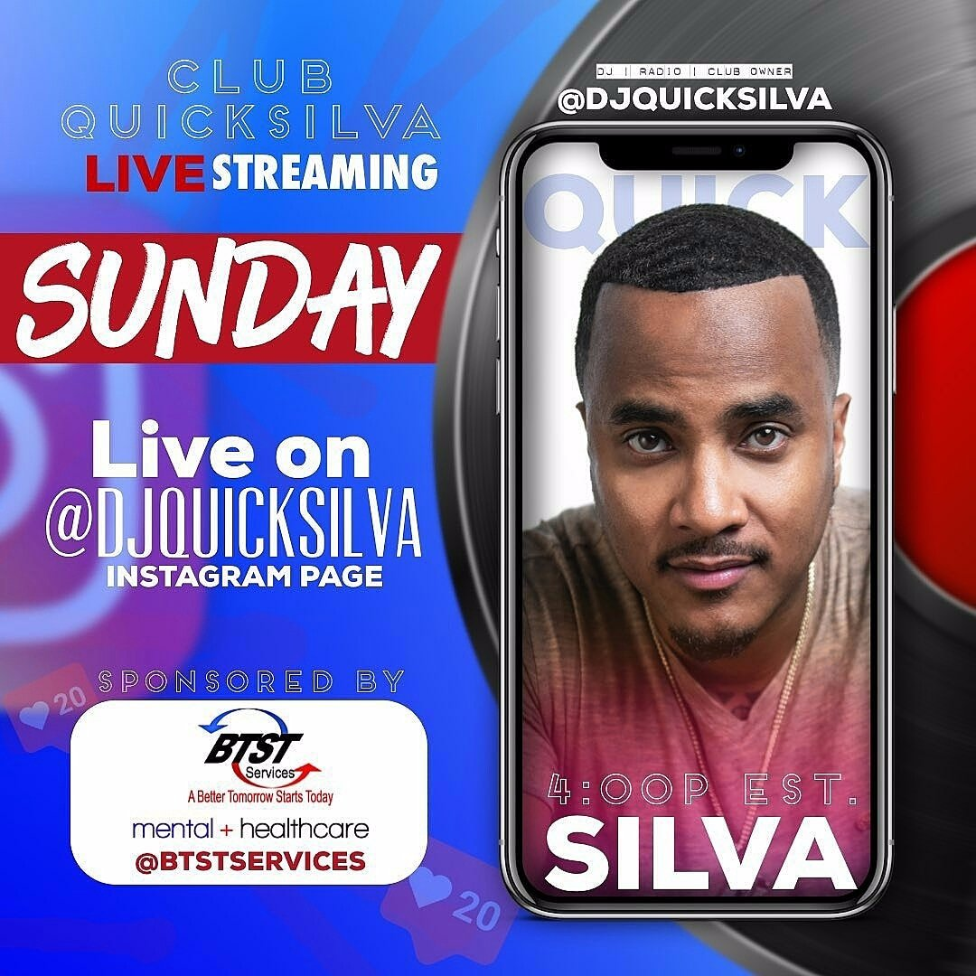 #ClubQuickSilva IS BACK TODAY starting at 4p for ANOTHER EDITION OF #SundayFunday DayParty on @DJQUICKSILVA ig Live & word is we will some surprise guest special performances  Pass the word #ClubQuickSilva #ThePartyKingpin #QuickSilvaShow #BALTIMORE #MARYLAND #DMV #MYBMOREpic.twitter.com/CRzt8svDz2