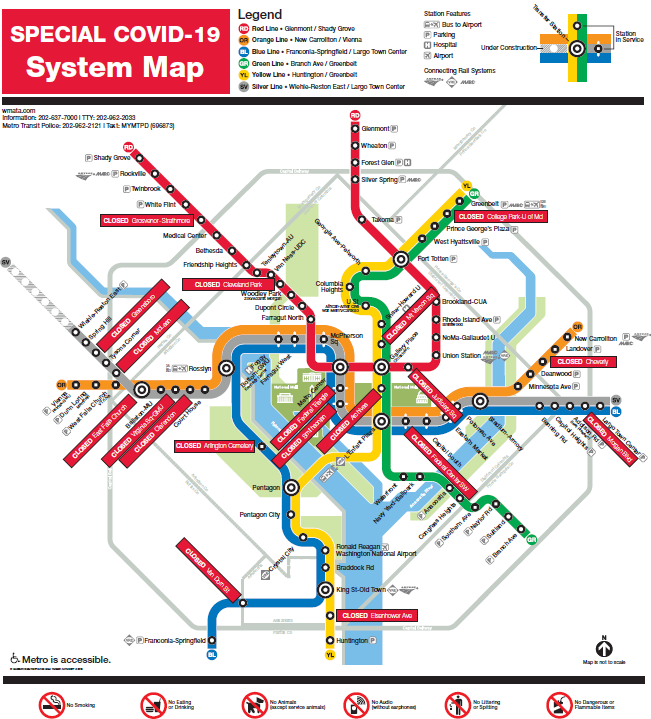 Week ahead: Sharply reduced Metro service for essential travel only; trains, buses will operate on same schedule as last week http://ora.cl/EX01X #wmata