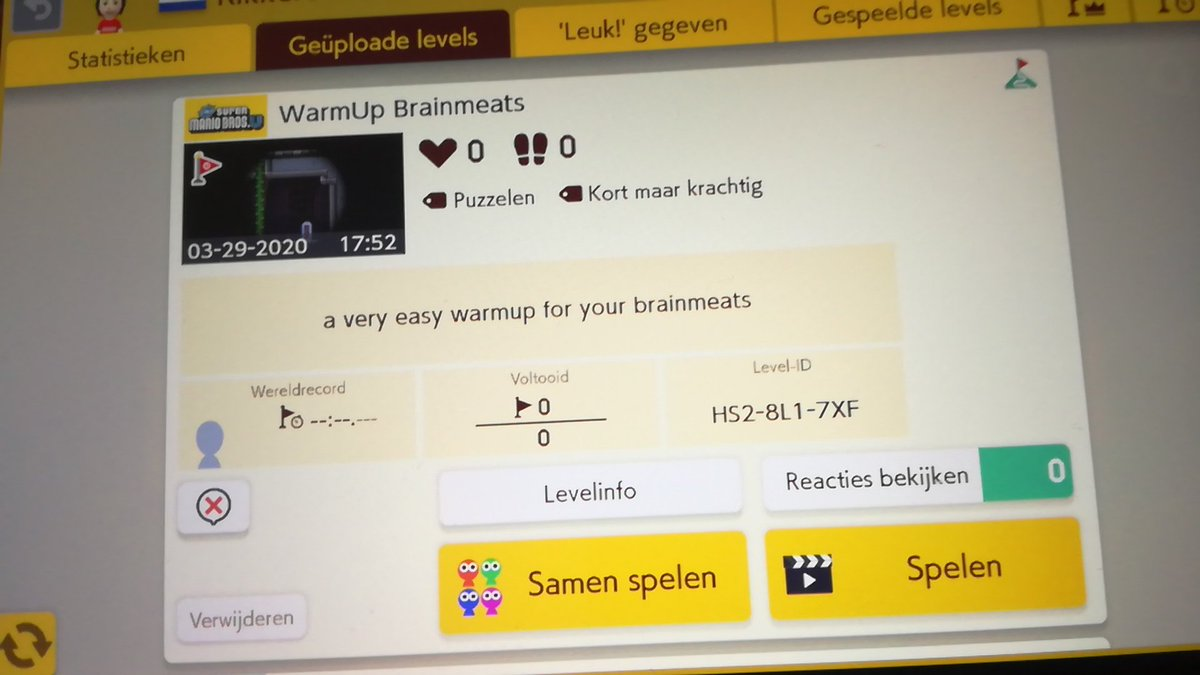 @DashieXP #dashiemaker2 I made you a easy warmup level for ur brainmeats, even you can get the world record on this one.  ID: HS2-8L1-7XF pic.twitter.com/aBSya9MiDl