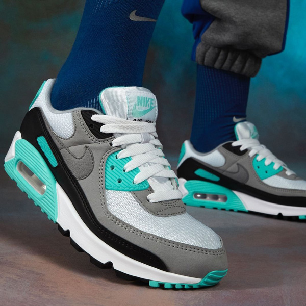 😲 Not many sizes remain for the Hyper Turquoise Nike Air Max 90 recrafted retro; cop for $30 OFF at $89.99 + FREE shipping. #promotion BUY HERE -> bit.ly/33Qrr5O