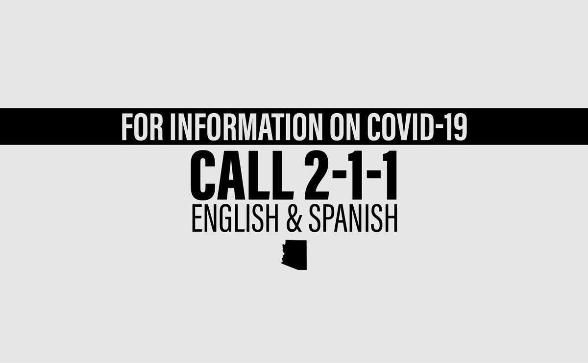 Arizonans can dial 2-1-1 to get important #COVID19 related information in English and Spanish.