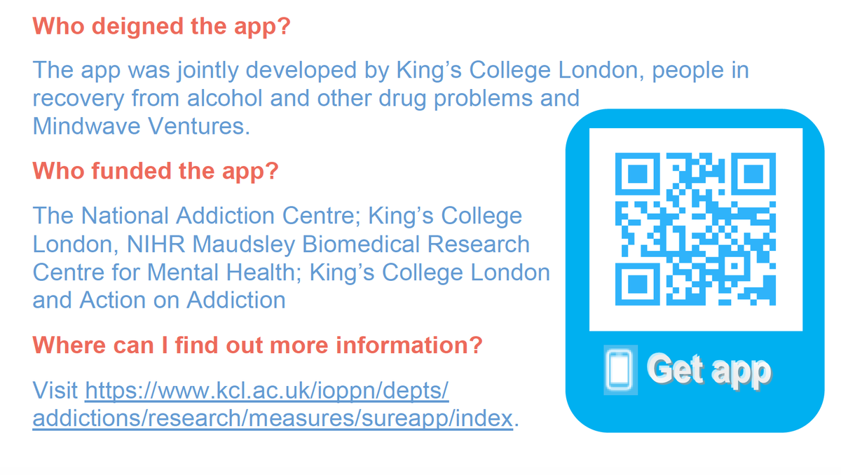 The SURE Recovery app allows you to track your substance use & recovery. It also provides personalized feedback & information. These are really difficult times. If the SURE app helps one person, thats a success. Please retweet #recovery @ActionAddiction @In_to_recovery @FAVORUK