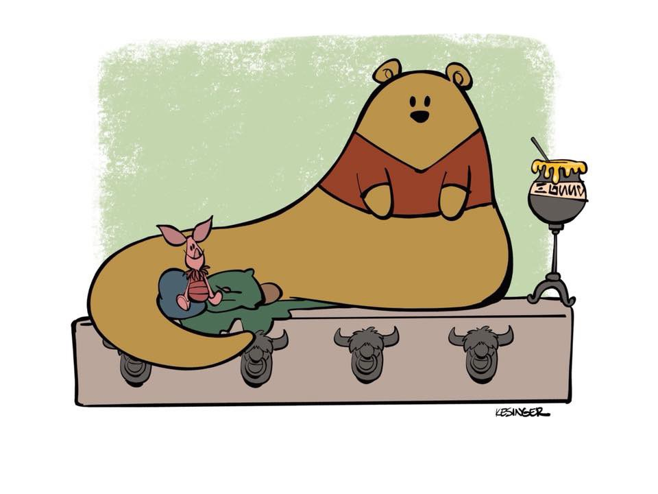 """Bring me hunny and the donkey."" Winnie the hutt. Random #WinnieThePooh and #starwars mashup on my iPad. pic.twitter.com/F938uoKao3"