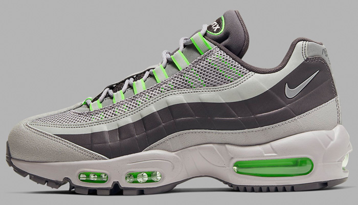 Over 40% OFF savings are available for the thunder grey/electric green Nike Air Max 95 Utility at $94.97 + FREE shipping with your Nike+ account. #promotion BUY HERE -> bit.ly/3bFkcAF
