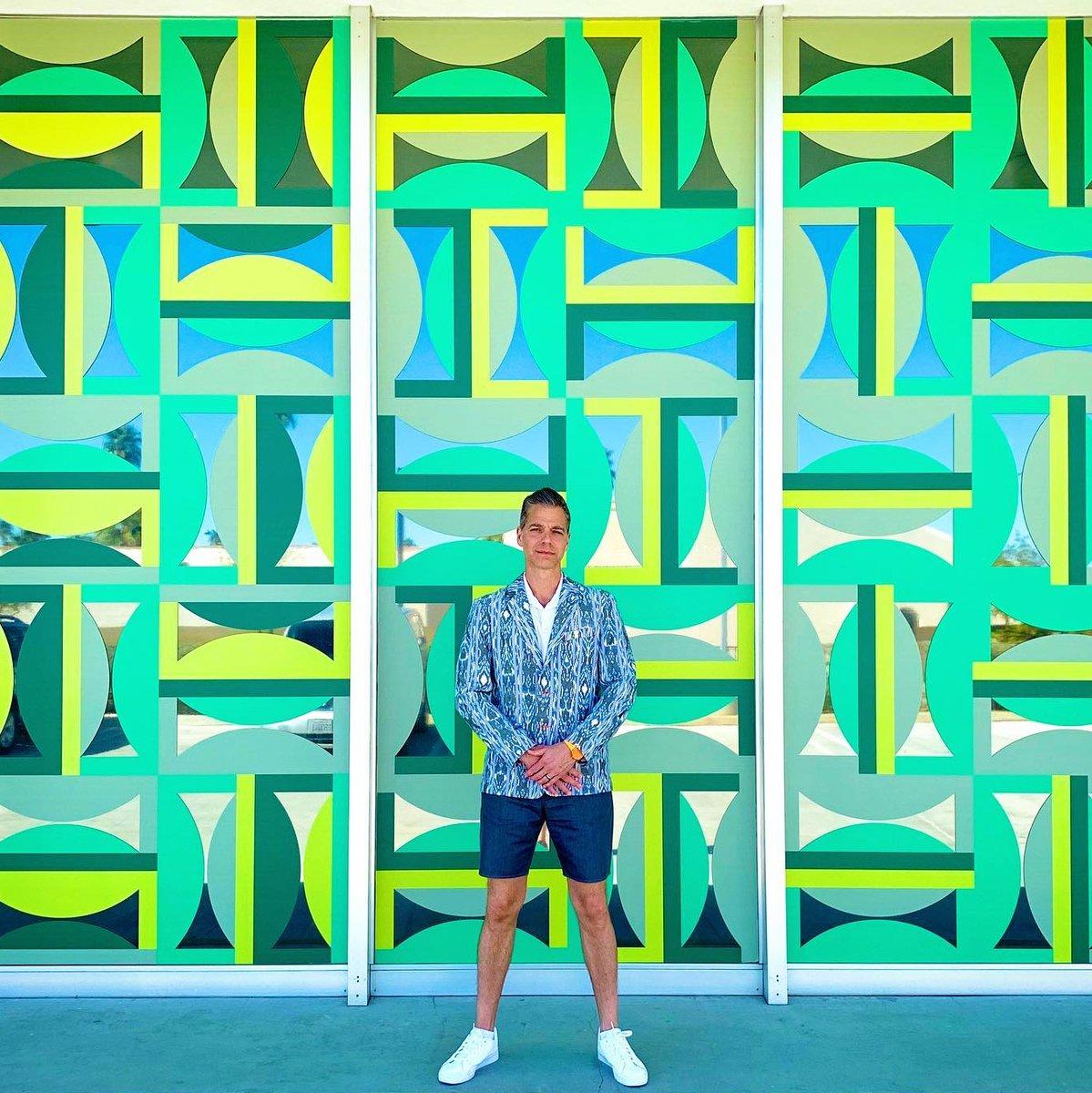 Bright Colors, Bold Patterns 💚@philipheckman @jimisermann #MrTurkStyle #MrTurk #PalmSpringsStyle #MTOptimism
