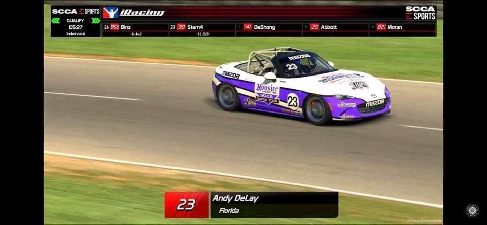 Andy Delay took his chance @SummitPointMP in the #eSCCA in his @MazdaRacing MX-5 Cup Car. #Legacy #TheButtKicker #Abruzzi