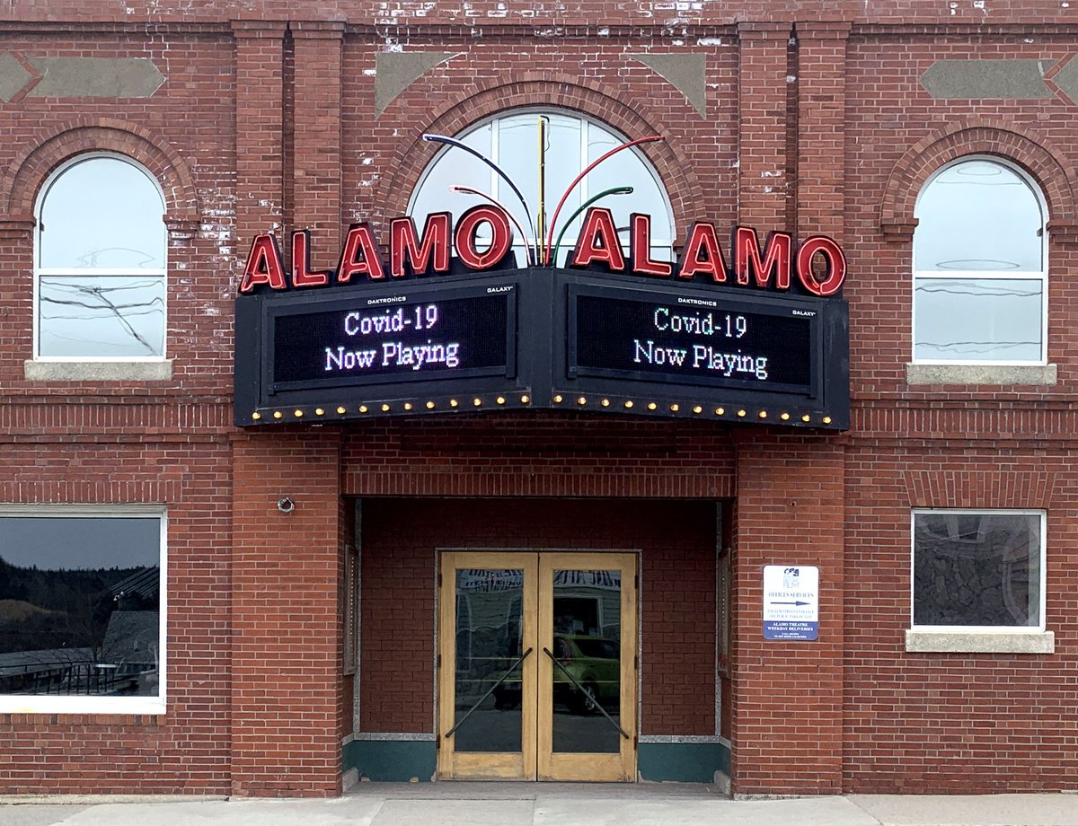 Today in Bucksport, Maine, at the The Alamo Theater, home of the Northeast Historic Film Archive. pic.twitter.com/FYbRSo8o25