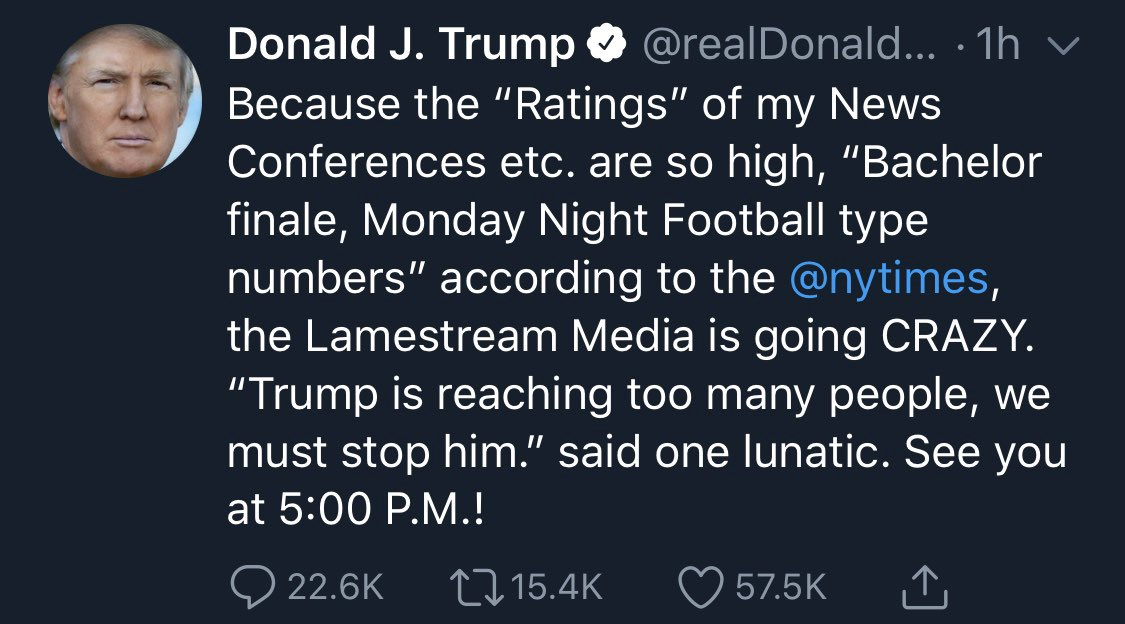 Imagine what your priorities must be in order to tweet about ratings during this time.