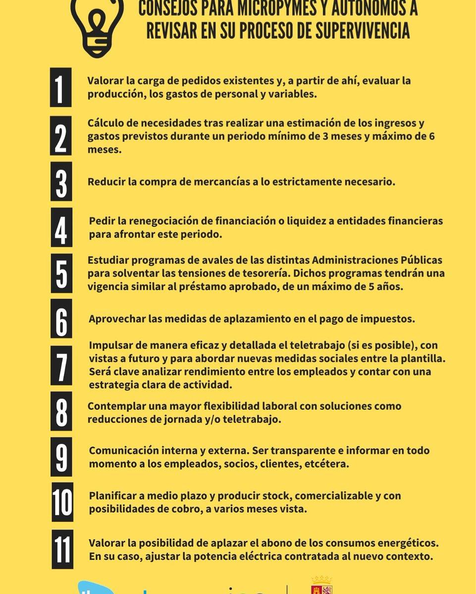Iberaval y el #ICE @empresasjcyl @jcyl lanzan un decálogo de #consejos para pequeñas empresas y #autónomos que se han visto afectada por la situación derivada del COVID-19. El #coronavirus ha obligado a replantear muchas estrategias. #CyL #empresas #CompromisoIberaval #pymes