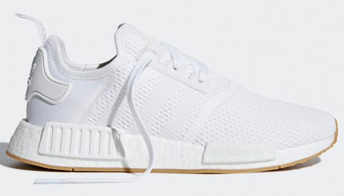 LAST DAY to grab the white/gum adidas NMD_R1 for 30% OFF retail at $91 + FREE shipping. BUY HERE -> bit.ly/3dlkDBs (promotion - use code MARCH30 at checkout)