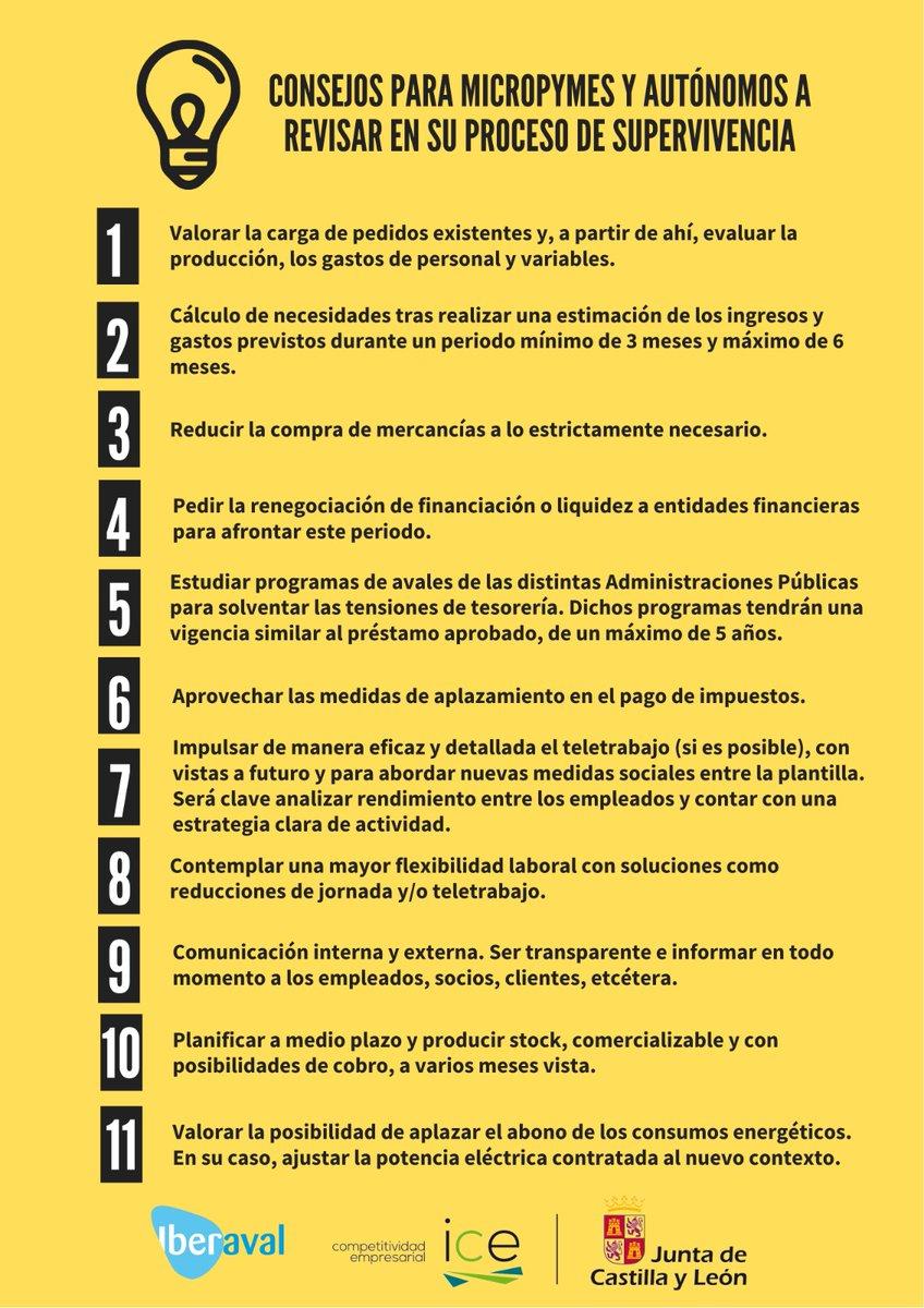 Consejos a #micropymes y #autónomos para superar la crisis. 9. #Comunicación interna y externa. Ser transparente e informar en todo momento a los empleados, socios, clientes... @jcyl @IBERAVAL #ICE