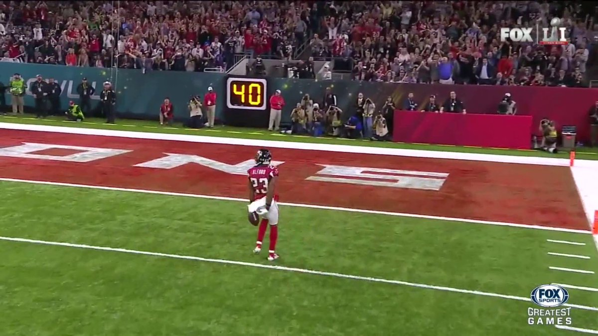 Robert Alford: 82-Yard pick 6 to the HOUSE. 21-0, Falcons. #LiveOnFOX