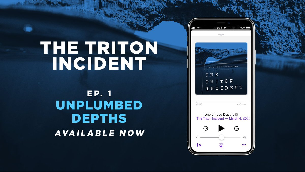 Dive into a mysterious disaster at sea in THE TRITON INCIDENT, available now on your favourite podcatcher! #AudioDramaSunday #podcasts  RSS: http://bit.ly/2x9GhIB  YouTube: http://bit.ly/3b2IZOG  Apple Podcasts: https://apple.co/2vEOwvS  & many more...pic.twitter.com/J8IudosTxv