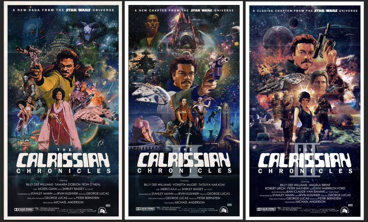During quarantine I imagined we lived in a world where we had a Lando Calrissian spin-off series
