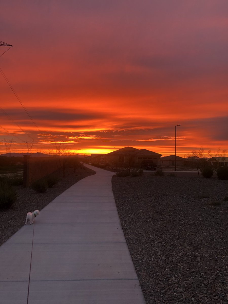 WOW! Check out this beautiful, fiery sunset in Sun City sent in by FOX 10 viewer Cindy Blumer! 🧡☀❤