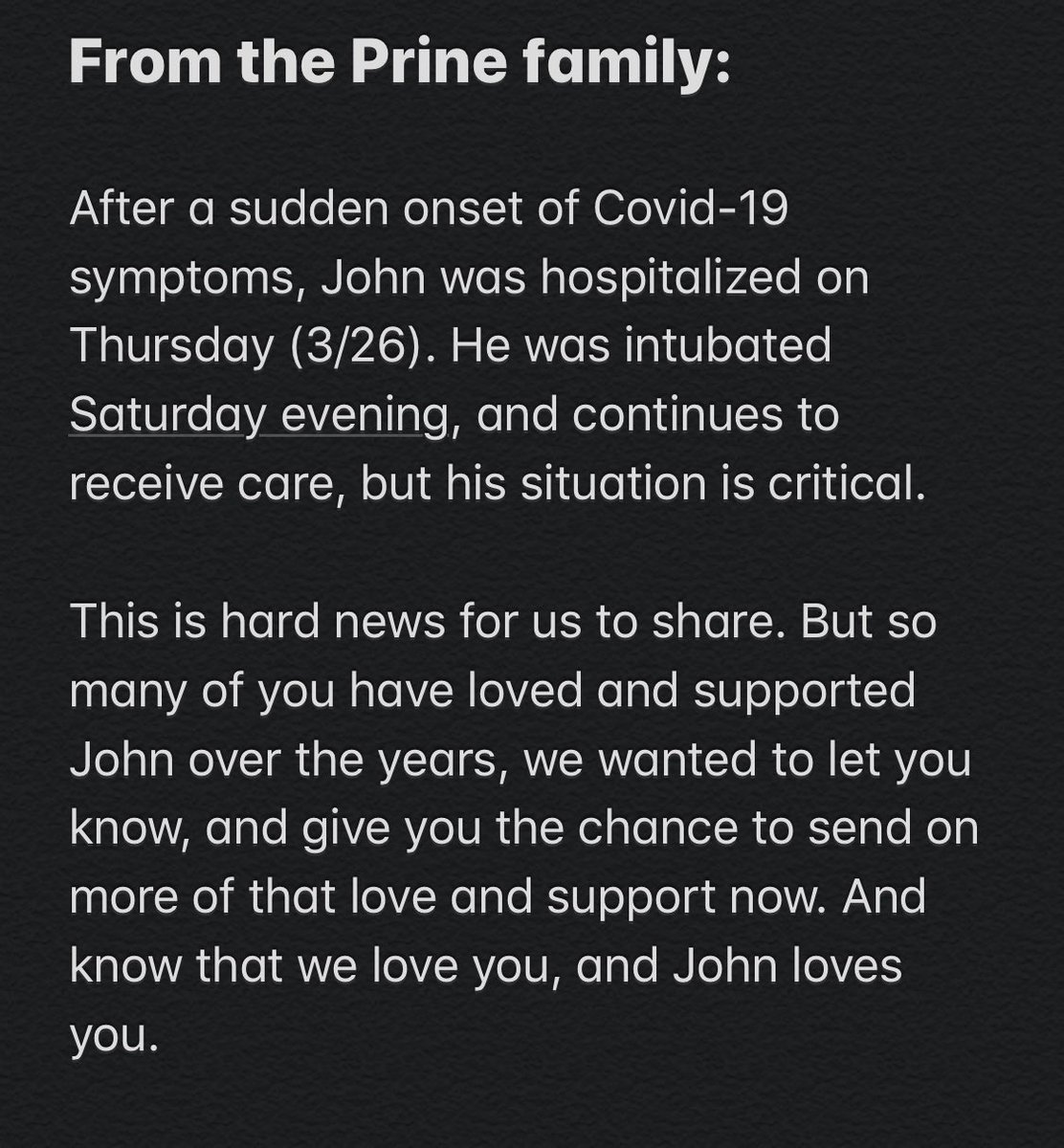 An update on John https://t.co/fPQbv0tLyB