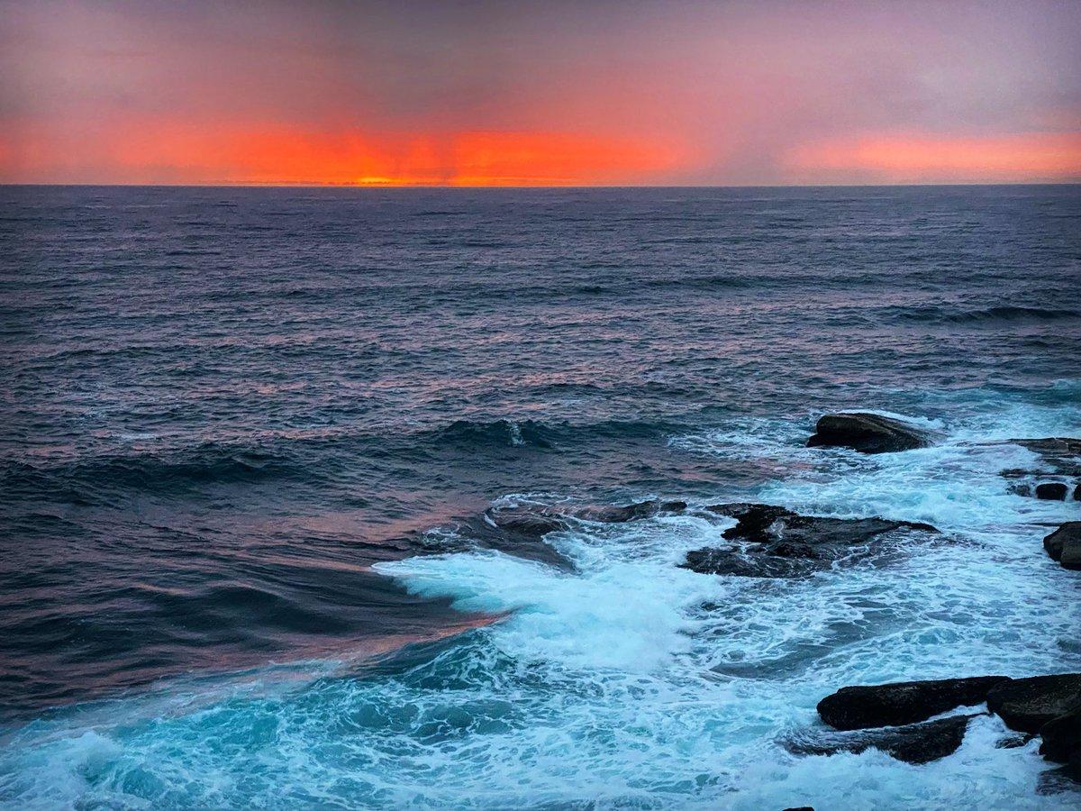 The smouldering dawn. #sydney #coastpic.twitter.com/Nh58dQiO7t