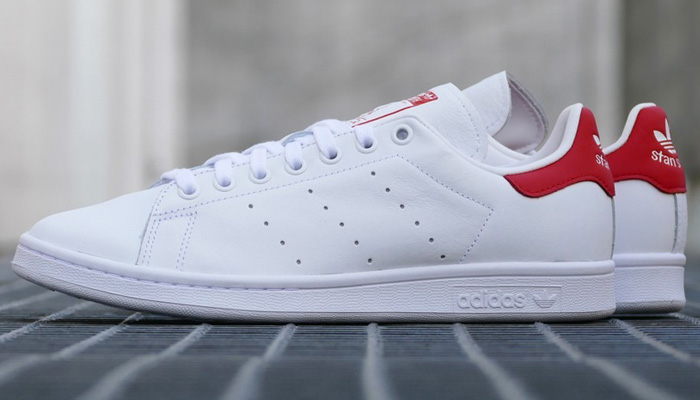 You can add the white/lush red adidas Stan Smith to your collection for 30% OFF at $56 + FREE shipping. Offer ends very late TONIGHT. BUY HERE -> bit.ly/2wAfHbo (promotion - use code MARCH30 at checkout)