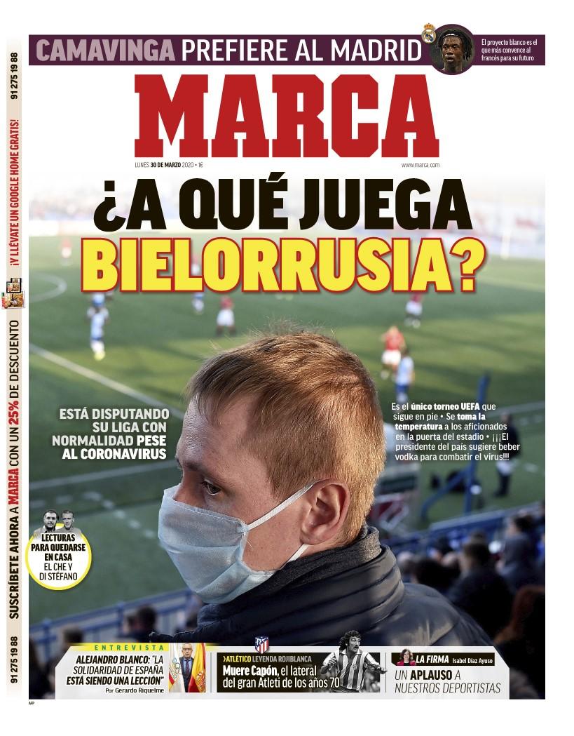 #LaPortada 🗞️ ¿A qué juega Bielorrusia? 🇧🇾