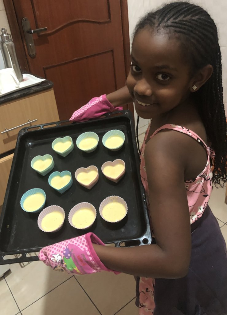 Bday preps... ! Our first born has just made her own bday home made cupcakes ; it's oven time now! We look forward to celebrating her tomorrow .  This girl is #beautiful #talented #compassionate #loving and much more. #9yearsold #quanrantinebirthday #celebrationpic.twitter.com/uLbw17xtZE