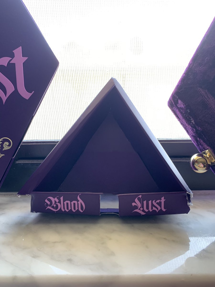 Look @JeffreeStar, you can make a triangle with the #BloodLust packaging💜👁💜 #bloodlustpalette #JeffreeStarCosmetics #BloodLustTriangle