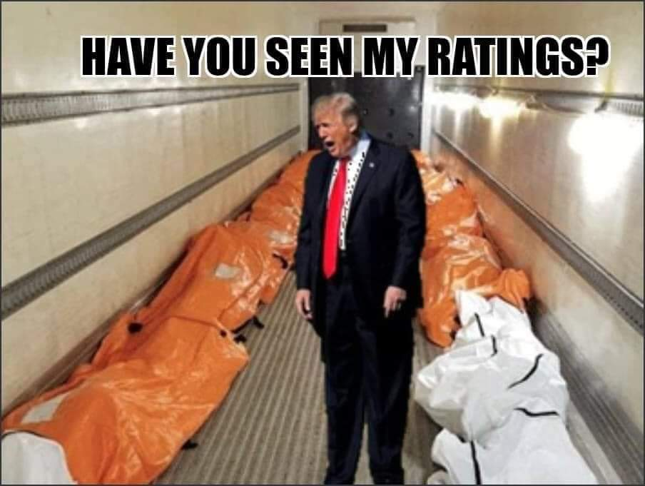 Trump Lied People Died Trump talks to body bags