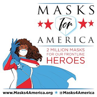 Just overnight, @masks4america has raised enough to send over 4000 N95-equivalent masks to frontline doctors & nurses.  Those are the real superheroes -- let's get them what they need! 😷  #AmericaAssemble #MasksForAmerica http://masks4america.org