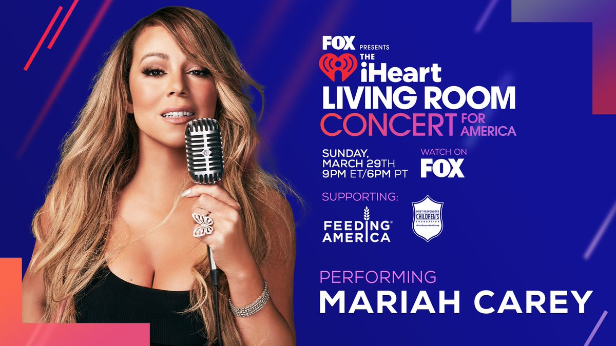 Excited to perform at this one-of-a-kind concert event alongside so many great artists. Watch the @iHeartRadio Living Room Concert For America on @FOXTV at 9PM ET / 6PM PT. Hoping to put a lil' smile on your face 🤗 #iHeartConcertOnFOX