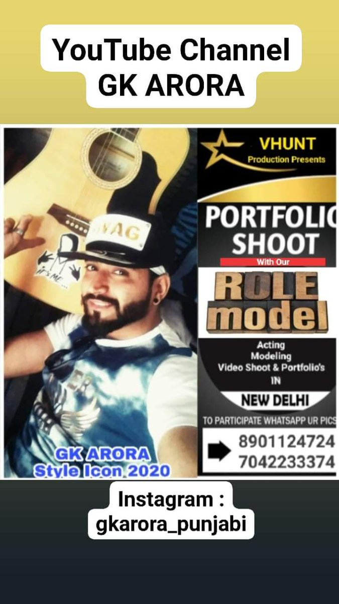 """#portfolios #photoshoot #styles #icons #year2020 #modelling #magazinecover  Mr.&Miss International Star Model Mr.&Miss India's Supper Model 2020 Mr.&Miss Asia Glamour2020 Mr.&Miss Fashion Star India2020 Role Model""""with""""VHUNT PRODUCTION""""Contact for Modeling assessment : 8860756470 pic.twitter.com/9pgvise0Te"""