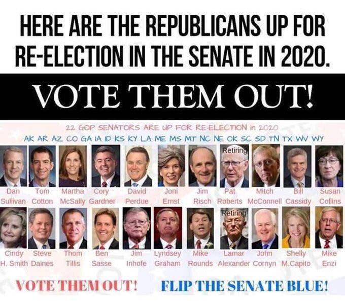 .@SenateGOP responsible 4 this moron. The DEATHS will be on them also. Vote them out @SenCoryGardner @SenJoniErnst @BillCassidy @JohnCornyn @SteveDaines @SenatorEnzi @sendavidperdue @SenDanSullivan @senatemajldr #GOPKillers @LindseyGrahamSC @BenSasse @SenTomCotton @MarthaMcSally<br>http://pic.twitter.com/oiqqSvelOx