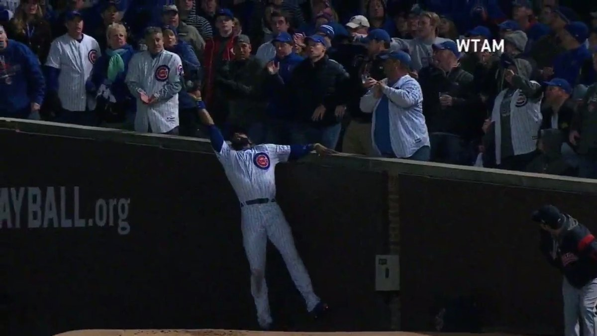 Playing RF at Wrigley Field is no walk in the park.   J-Hey plays it like a champ.