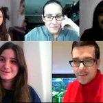 Image for the Tweet beginning: Los profes nos reunimos por