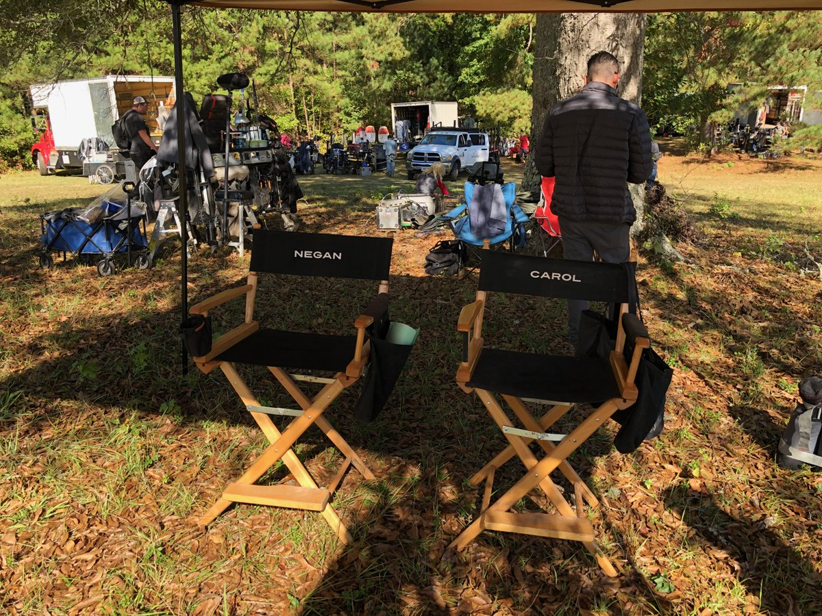 #TheWalkingDead Tonight! #BehindTheScenes I had been looking forward to this for a long time 😊