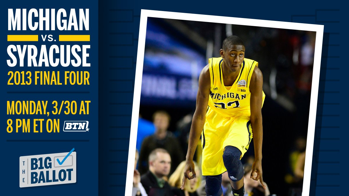 Hope everyone is healthy, safe, and home 🙏🏿   Thinking back on the @umichbball days busting brackets in 2013 😎   Catch our Final Four game vs. Syracuse on 𝐌𝐨𝐧𝐝𝐚𝐲 at 8pm ET on BTN while my guy Coach @JohnBeilein live tweets the action. 〽️ #GoBlue #sponsored https://t.co/jsHzr66bg1