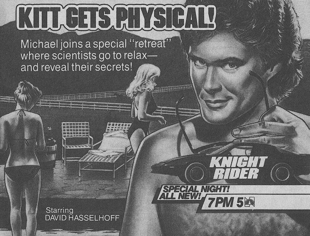 NBC Primetime, March 29, 1985: — On 'Knight Rider,' Michael joins a special 'retreat' <br>http://pic.twitter.com/4aGrO0xhNh