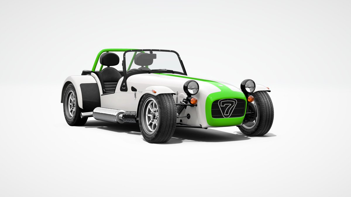 Had forgotten this exists... Went for the simple approach. 310S, sport suspension and brake master cylinder upgrades, black details, LED headlights. twitter.com/caterhamcars/s…