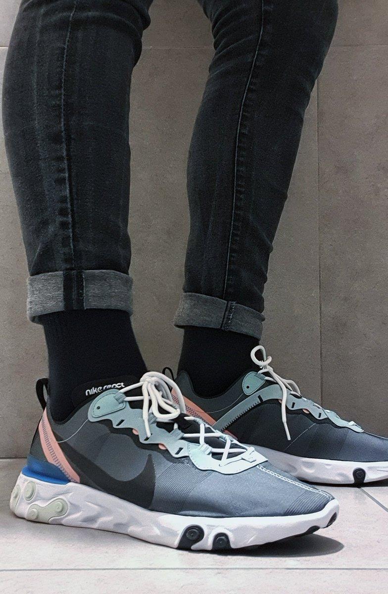 So comfy.. Nike React Element 55.. #nike #reactelement #sneakers pic.twitter.com/eG4ufqOBuM