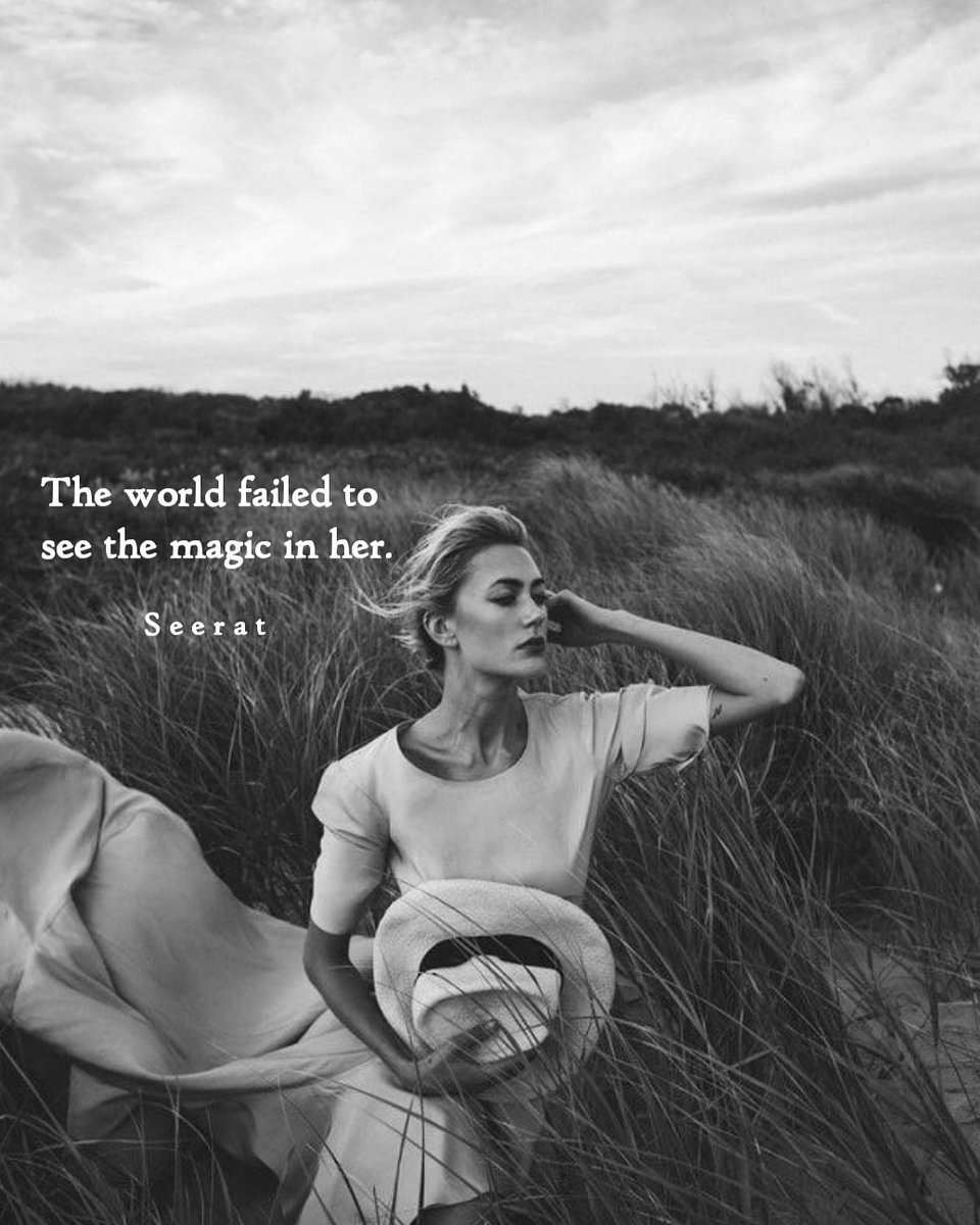 """""""The world failed to see the magic in her"""" @seerat_poetry  #seeratpoems #seeratquotes #seerat #poetry #POEMS #poem #quote #quoteoftheday #strongwoman #love #brokenheartquotes #wisdom #truths #loyalty #quotation #seeratahuja #vancouver #england #sadquotespic.twitter.com/gFII1AM1vh"""