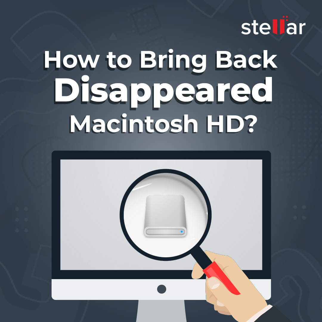 Learn how to Bring back disappeared macintosh HD in minutes. Follow link. http://ow.ly/ILwe50yZmDQ  #askstellar #macdatarecovery #recoverwithstellar #macproducts pic.twitter.com/AEKKQvx7BK