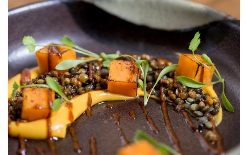 Gourmet Sweet Potato and Puy Lentil Dhal #vegan #seasonal #recipe