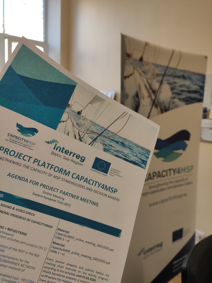 Nothing can stop partners from #Interreg projects from cooperating! 💪Because Interreg is about working #together to let great solutions become common practice across the #BalticSeaRegion in various topics, including #MaritimeSpatialPlanning. #MadeWithInterreg