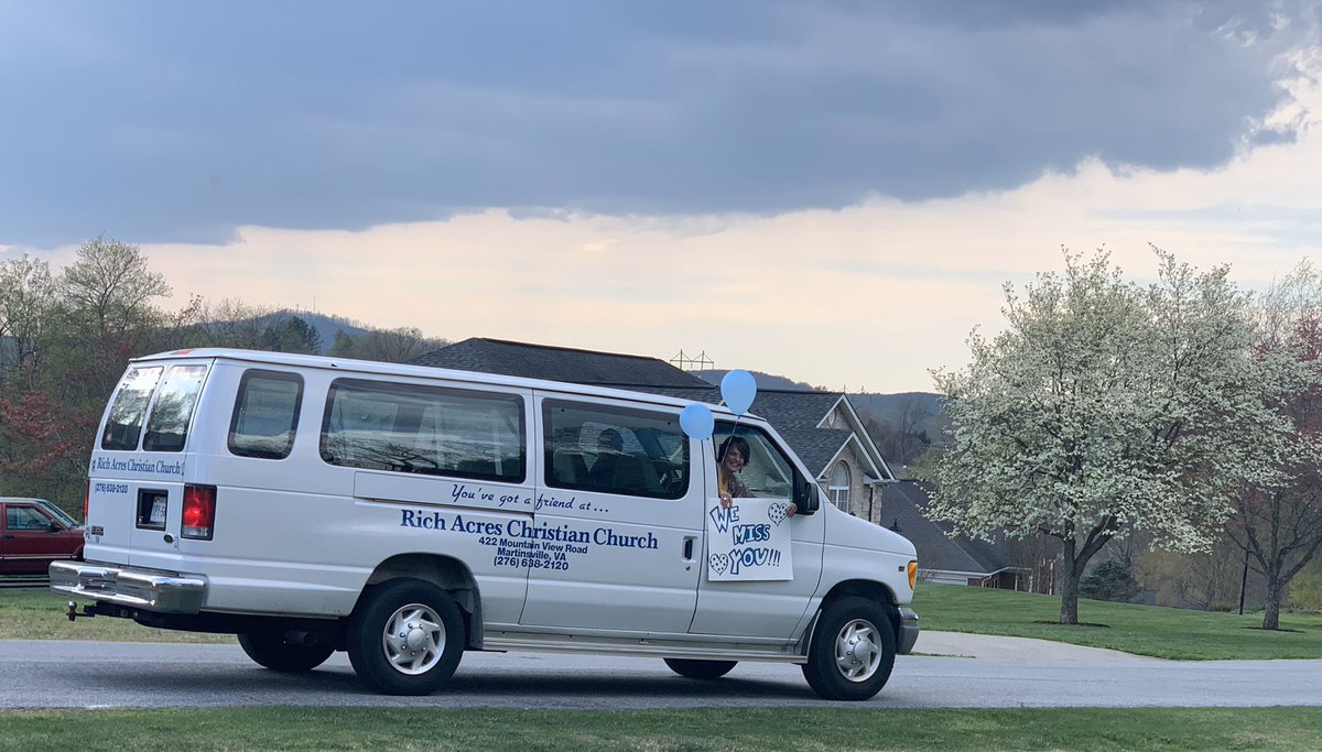Never would've imagined I would enjoy a drive-by so much (or that it would be my church doing so)! 😊 #COVID2019