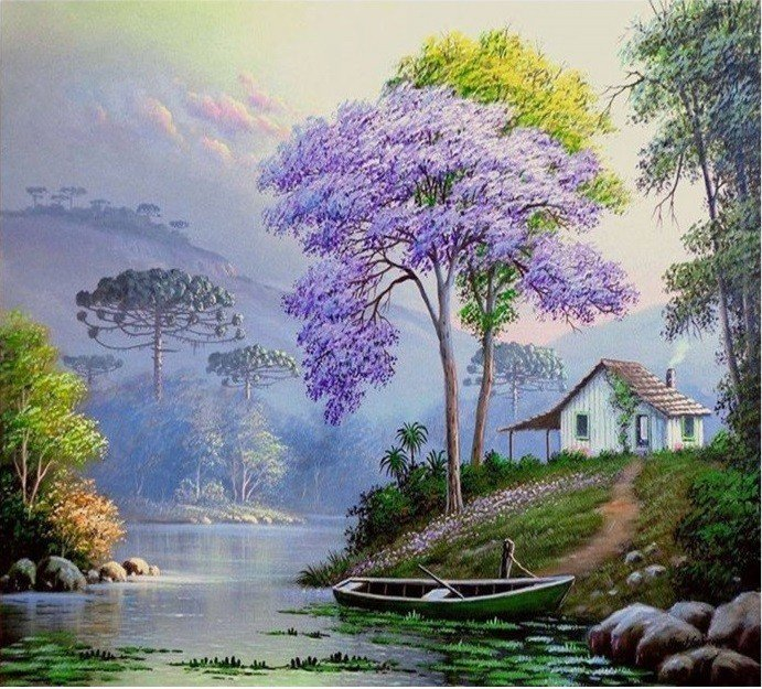 Landscapes of Brazil in paintings by HORST SCHNEPPER  #Paintings #Artist #Brazil pic.twitter.com/MTGKLZnHgU